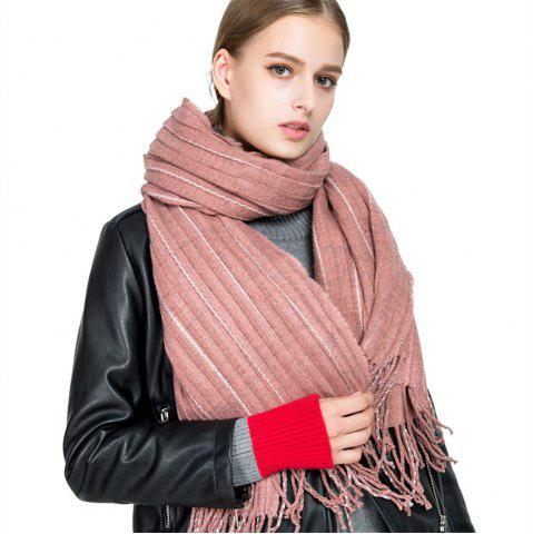Trendy M1733 Imitation Cashmere Dotted Line Fringes Warm Scarf