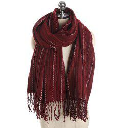 M1733 Imitation Cashmere Dotted Line Fringes Warm Scarf -