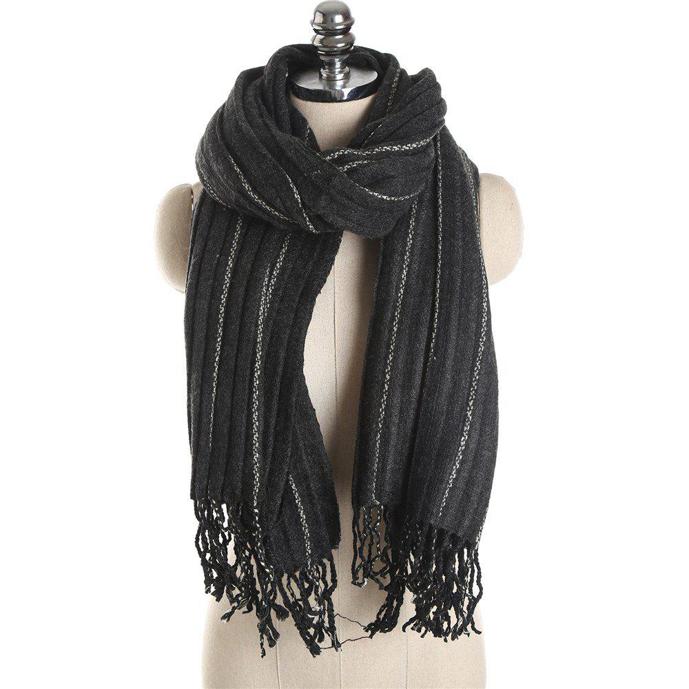 Hot M1733 Imitation Cashmere Dotted Line Fringes Warm Scarf