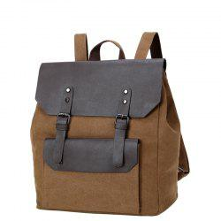 1Pc Male Canvas Backpack Rucksacks Travel Bag Fashion Shoulder Bags -