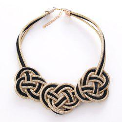 Fashion Compile Chinese Knot Necklace Jewelry -