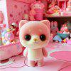 Mini Lovely Flocking Pink Cartoon Dog Doll Furnishing Articles Kids Gift -