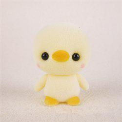 Mini Lovely Flocking Yellow Duck Doll Furnishing Articles Kids Gift -