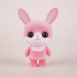 Mini Lovely Flocking Pink Rabbit Doll Furnishing Articles Kids Gift -