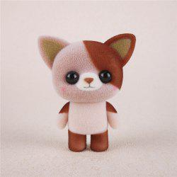 Mini Lovely Flocking Brown Cat Doll Furnishing Articles Kids Gift -