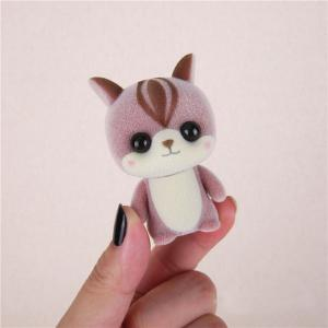 Mini Lovely Flocking Pink Squirrel Doll Furnishing Articles Kids Gift -