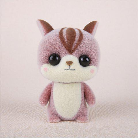 Chic Mini Lovely Flocking Pink Squirrel Doll Furnishing Articles Kids Gift