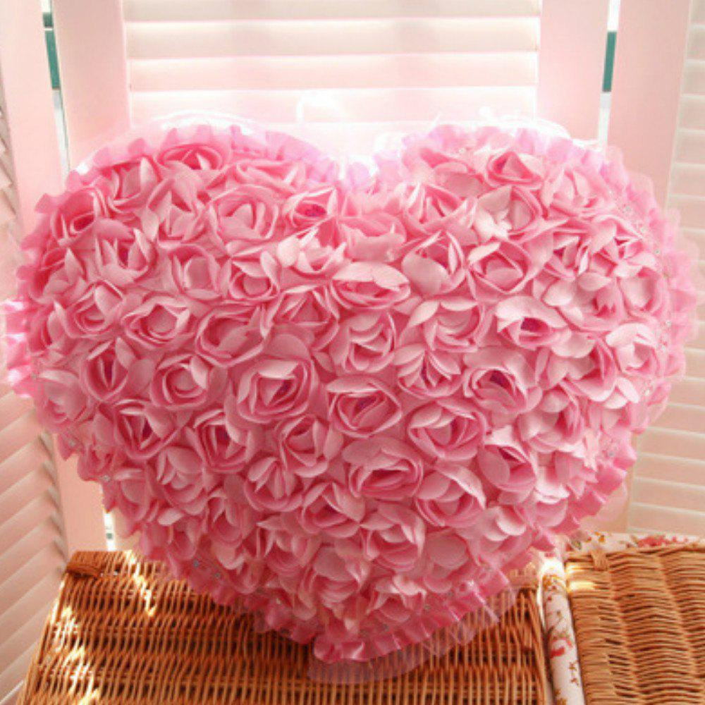 Chic Rose Heart Shape Home Decor Decorative Sofa  Pillow Valentine Day present