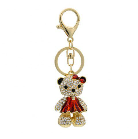 Shops Cute Little Bear Keychain Animal Keyring Car Bag Accessory