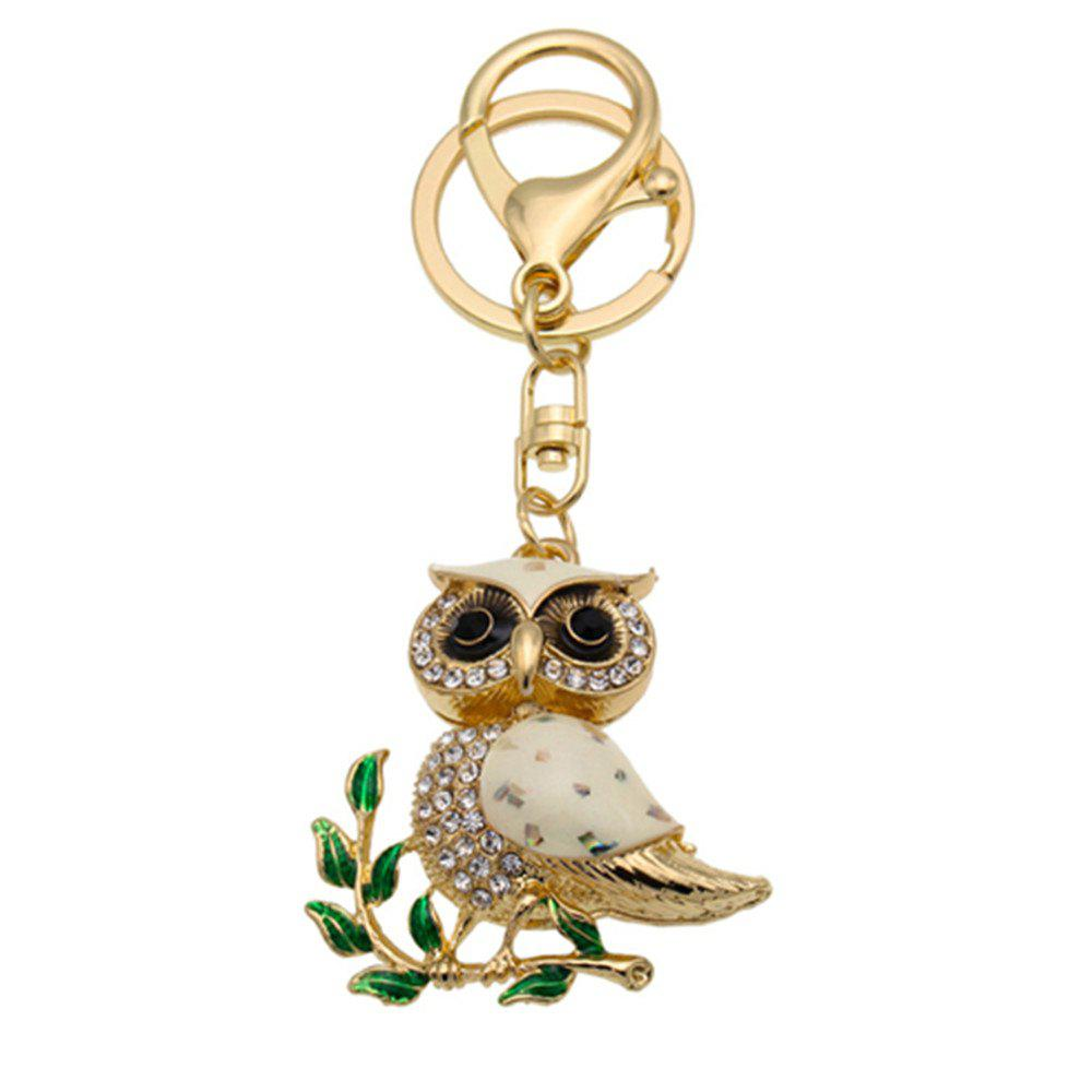 Outfit Owl Shape Keychains Women Fashion Rhinestone Bag Pendant Car Key Accessories