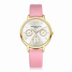 Lvpai P093-G Women Casual Leather Strap Quartz Watches -