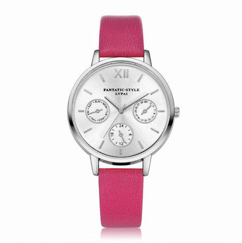 Shop Lvpai P093-S Women Casual Leather Strap Quartz Watches