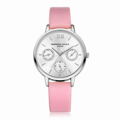 Cheap Lvpai P093-S Women Casual Leather Strap Quartz Watches
