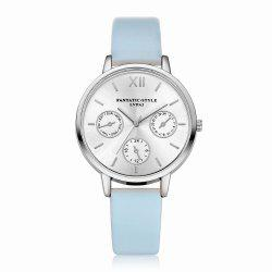 Lvpai P093-S Women Casual Leather Strap Quartz Watches -