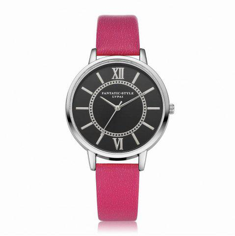Trendy Lvpai P094-S Women Fashion Leather Band Black Dial Wrist Watches