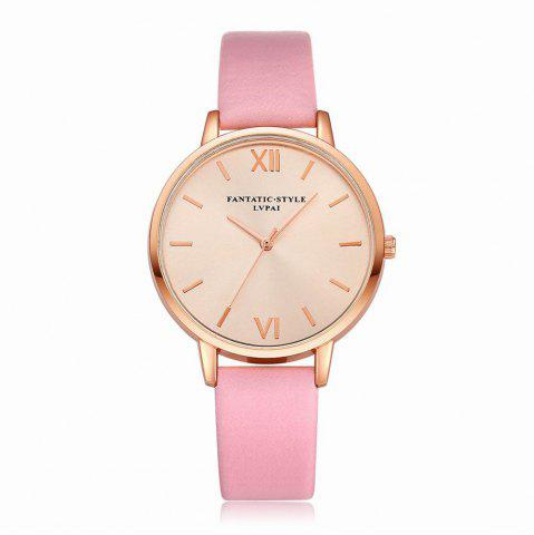 Outfit Lvpai P095-R Women Rose Gold Tone Leather Band Wrist Watches