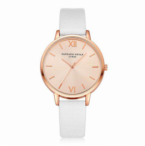New Lvpai P095-R Women Rose Gold Tone Leather Band Wrist Watches