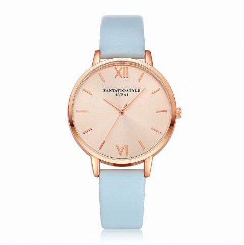 Trendy Lvpai P095-R Women Rose Gold Tone Leather Band Wrist Watches