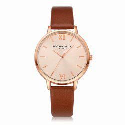 Lvpai P095-R Women Rose Gold Tone Leather Band Wrist Watches -