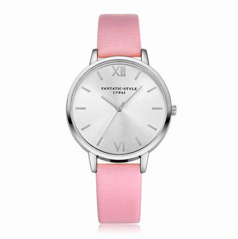 New Lvpai P095-S Women Classic Leather Band Silver Tone Quartz Watches