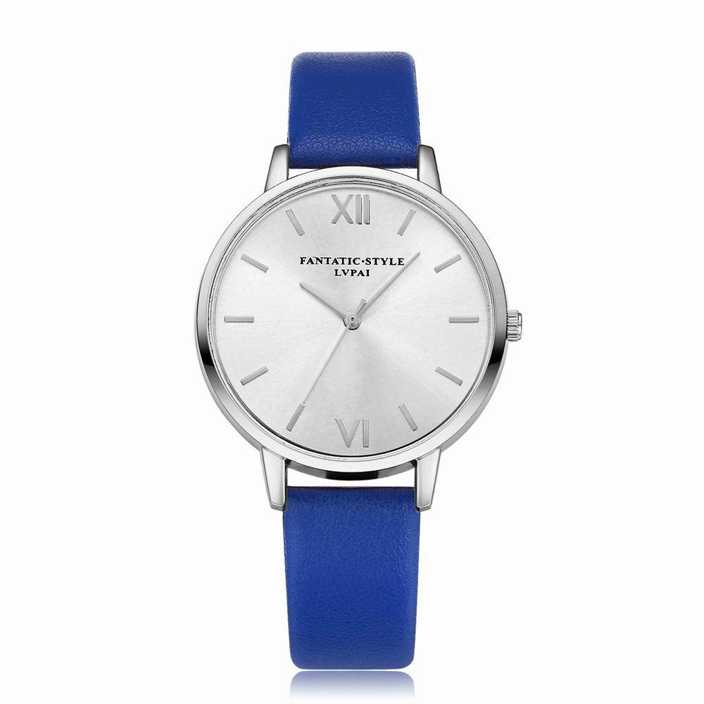 Outfits Lvpai P095-S Women Classic Leather Band Silver Tone Quartz Watches