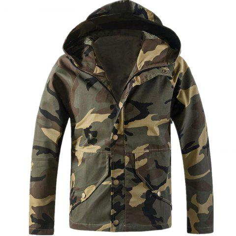 Shop New Spring Camouflage Hooded Jacket