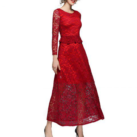 Affordable Fashion Lace Sleeve Dress