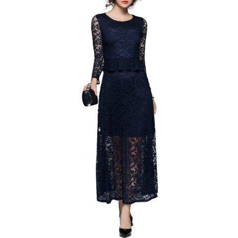 Outfit Fashion Lace Sleeve Dress