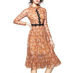 Fashionable Lotus Leaf Edge Dress -