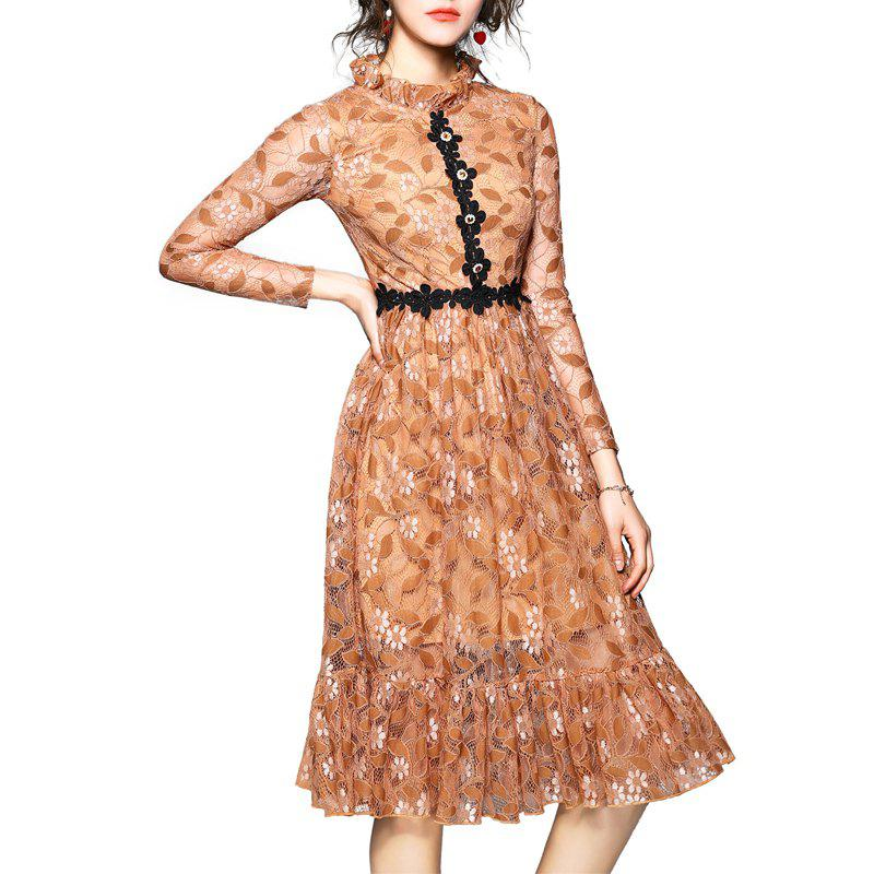Best Fashionable Lotus Leaf Edge Dress