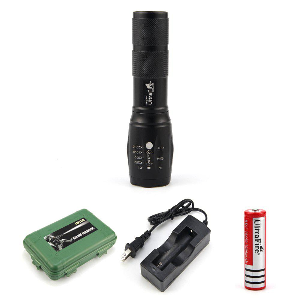 Outfits UltraFire MINI - A100 XML-T6 560LM 5-Position Retractable Light Flashlight Kit