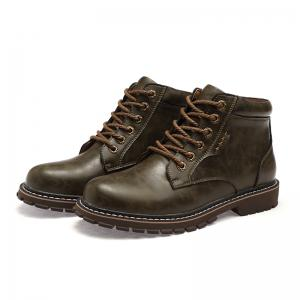 Autumn and Winter Cowhide Rubber Shoes -