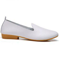 Spring Cattle Hide Leisure Nurse Students Leather Shoes -