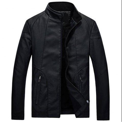 Discount Faux Leather Thicken Warm Pu Leather Coats