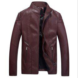 Faux Leather Thicken Warm Pu Leather Coats -