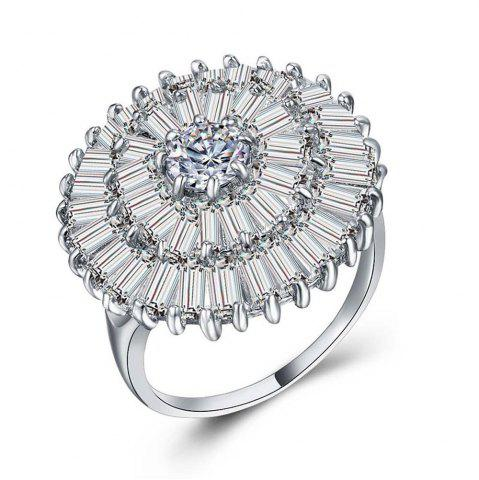 Best Women's 925 Sterling Silver Proposal Gift Two Tone Diamond ring Jewelry