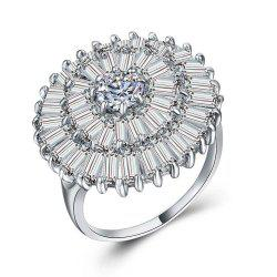 Women's 925 Sterling Silver Proposal Gift Two Tone Diamond ring Jewelry -