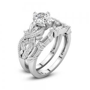 Fashion Wedding Gilded Zircon Ring -