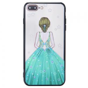 Case For Iphone 8Plus Light oil Relief Goddess TPU Phone Protects the Shell -