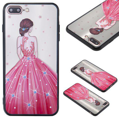 Online Case For Iphone 8Plus Light oil Relief Goddess TPU Phone Protects the Shell