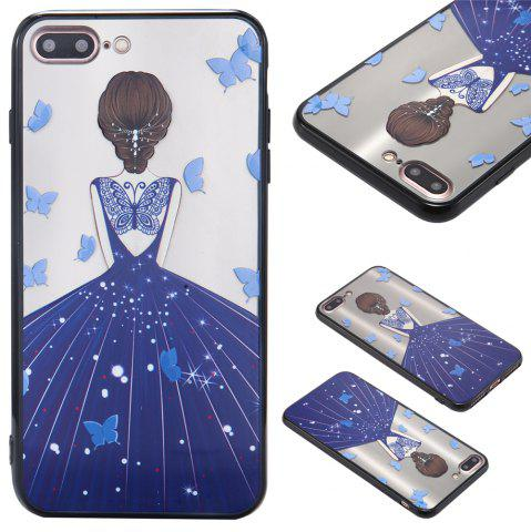 Cheap Case For Iphone 8Plus Light oil Relief Goddess TPU Phone Protects the Shell