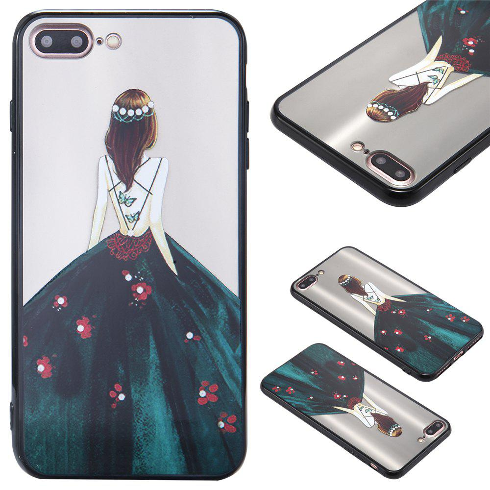 Hot Case For Iphone 8Plus Light oil Relief Goddess TPU Phone Protects the Shell