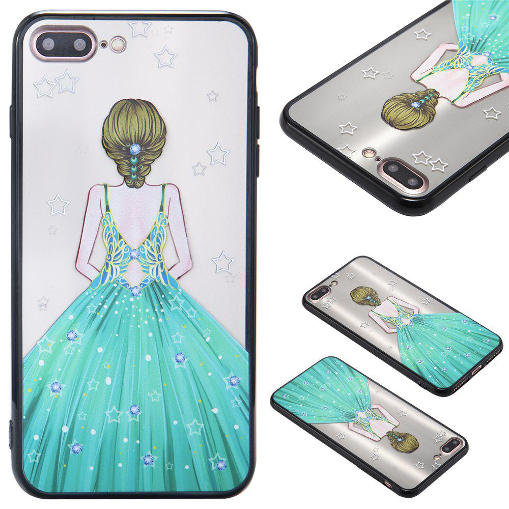 Sale Case For Iphone 8Plus Light oil Relief Goddess TPU Phone Protects the Shell