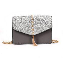 Envelope Tassel Decoration Shoulder Chain Square Fashion Sequins Small Bag -