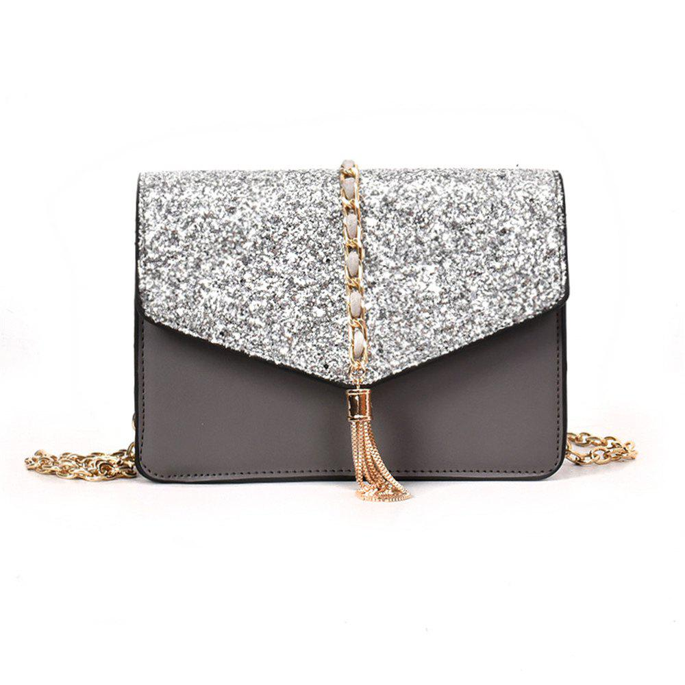 Shops Envelope Tassel Decoration Shoulder Chain Square Fashion Sequins Small Bag