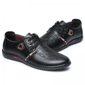 New Rubber Bottom Business Leather Casual Low Men Shoes -
