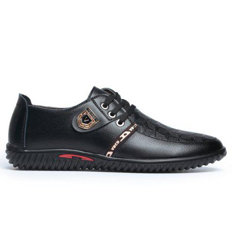 Unique New Rubber Bottom Business Leather Casual Low Men Shoes