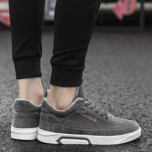 New Solid Color High Add Plus Cotton Shoes -