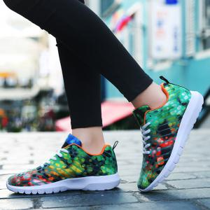 Women's Sports Shoes Stylish Colorblock Sneakers  Casual Breathable Comfy Running Shoes -