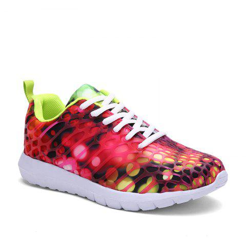 Trendy Women's Sports Shoes Stylish Colorblock Sneakers  Casual Breathable Comfy Running Shoes